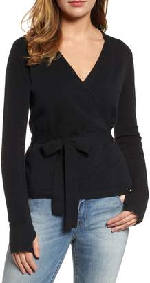 Caslon Off-Duty Ballet Tie Front Sweater