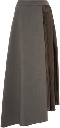 Akris Midi Wool High Rise Skirt