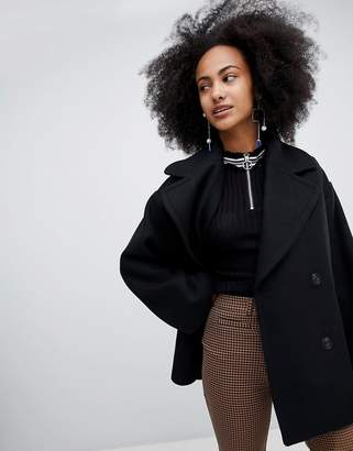 Monki Oversized Short Tailored Coat