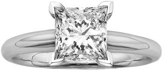 Kohl's Princess-Cut IGL Certified Colorless Diamond Solitaire Engagement Ring in 18k White Gold (1 1/2 ct. T.W.)