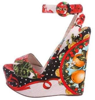 Dolce & Gabbana Printed Platform Wedges