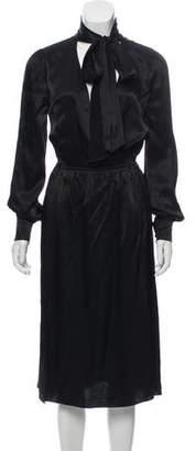 Rachel Zoe Sash Tie Midi Dress