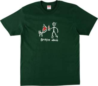Spitfire Supreme Cat Tee - 'SS 18' - Dark Green
