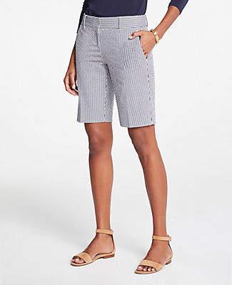 Ann Taylor Petite Seersucker Walking Shorts