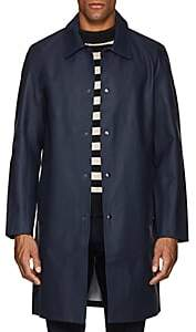 Stutterheim Raincoats RAINCOATS MEN'S VASASTAN COTTON-BLEND RAINCOAT-NAVY SIZE L