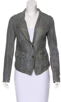 Giorgio Brato Leather Distressed Jacket