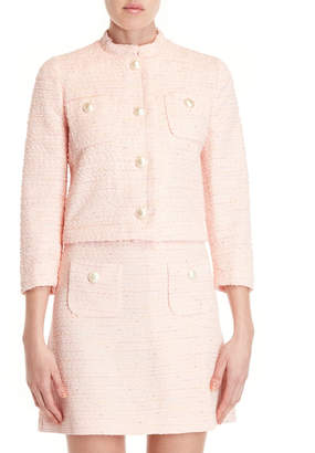 Moschino Boucle Faux Pearl Jacket
