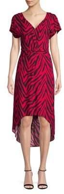 Highline Collective Printed Dolman-Sleeve Midi Dress