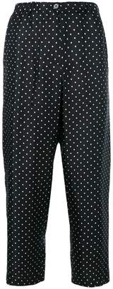 Alberto Biani polka dot cropped trousers