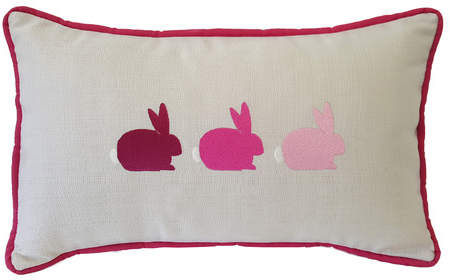 Nantucket Bound Bunnies Sunbrella Lumbar Pillow