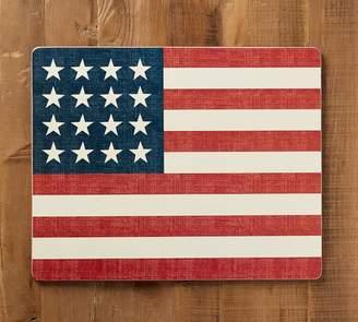 Pottery Barn American Flag Cork Mat