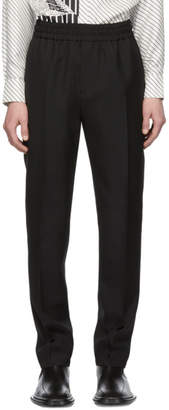 Givenchy Black Wool Vertical Logo Jogger Trousers