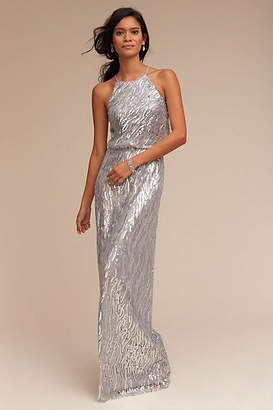 Anthropologie Sequined Alana Wedding Guest Dress