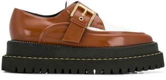 No.21 buckled brogue platform shoes