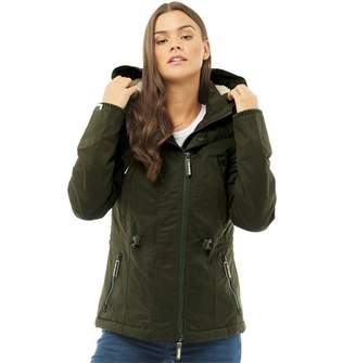 Superdry Womens Microfibre Boxy Snorkle Jacket Army
