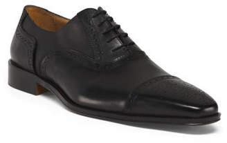 Made In Italy Men's Cap Toe Shoes