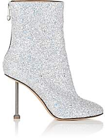 Maison Margiela Women's Metal-Heel Glitter Ankle Boots - Silver