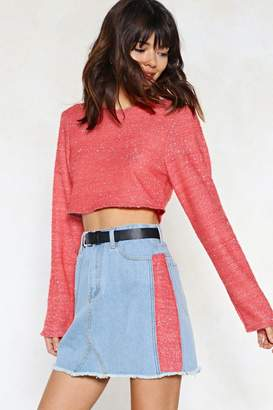 Nasty Gal Rise Above Knit Cropped Sweater