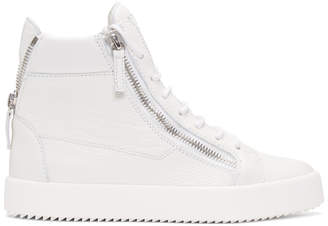 Giuseppe Zanotti White May London High-Top Sneakers