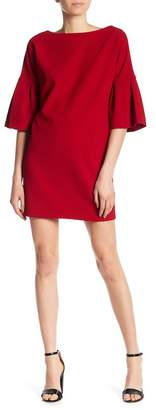 Badgley Mischka Pebble Crepe Dress