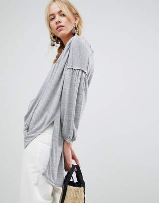 Free People Just A Henley Blouse