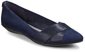 Anne Klein Point Toe Slip On Flats