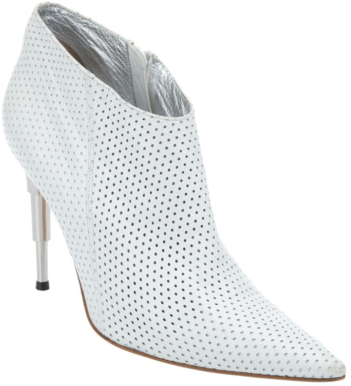 Thierry Mugler Vintage perforated bootie