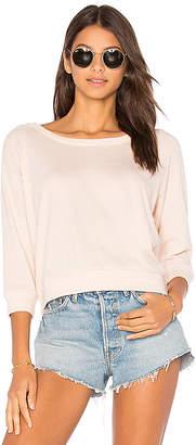 Nation LTD Shrunken Crop Sweatshirt in Pink $75 thestylecure.com