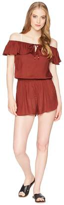 Roxy Western Holiday Romper Cover-Up Women's Swimsuits One Piece