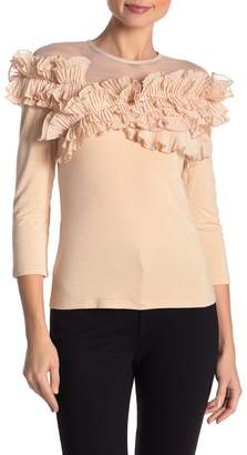 Gracia Pleated Ruffles Top