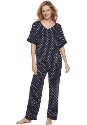 Apt. 9 Women's Lace Trim Tee & Pants Pajama Set