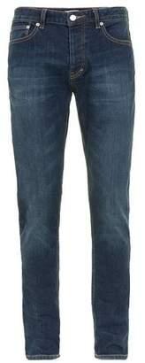 Topman Mens Blue Mid Wash Stretch Slim Jeans