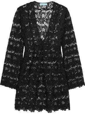 Melissa Odabash Alanna Crocheted Cotton-Lace Coverup