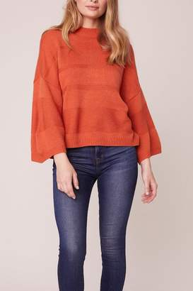 BB Dakota Orange Boxy 3/4 Sleeve Sweater