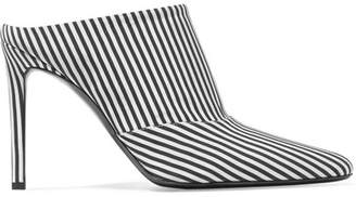 Altuzarra Davidson Striped Canvas Mules - Black