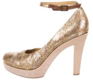 Lanvin Brocade Platform Pumps