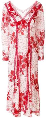Ermanno Scervino long sleeve georgette dress