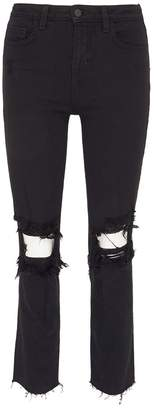 L'Agence 'Audrina' ripped cropped jeans