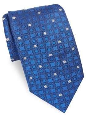 Brioni Azure Dots Silk Tie