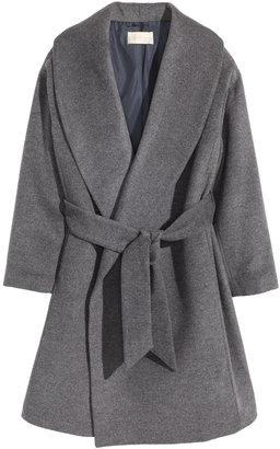 H&M - Wool-blend Coat - Gray melange - Ladies