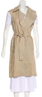 Theory Belted Linen Vest w/ Tags