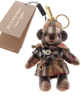 Burberry Thomas Bear In Vintage Check Trench Coat Charm