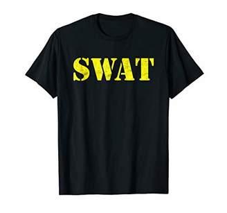 SWAT Shirt Halloween Costume Distressed Text