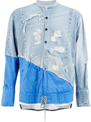 Greg Lauren contrast material jacket