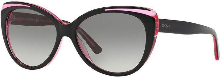 DKNYDKNY DY4125 57mm Cat-Eye Gradient Sunglasses