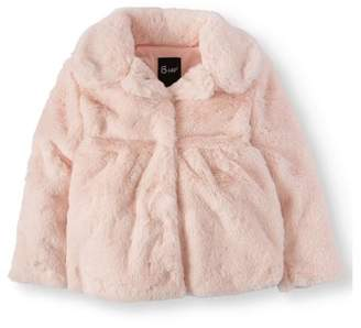 BHIP Little Girls' Faux Fur Coat