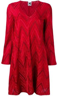 M Missoni chevron pattern knitted dress