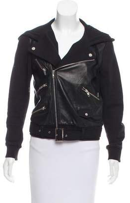The Kooples Sport Hooded Faux Leather Jacket