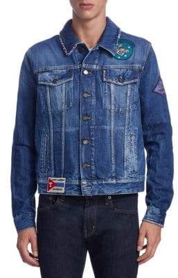 Saint Laurent Patches Denim Jacket