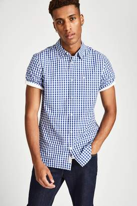 Jack Wills Woodham Seersucker Short Sleeve Shirt